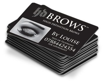 Business Appointment Cards For Hd Brows By Louise Simply Plastic Cards